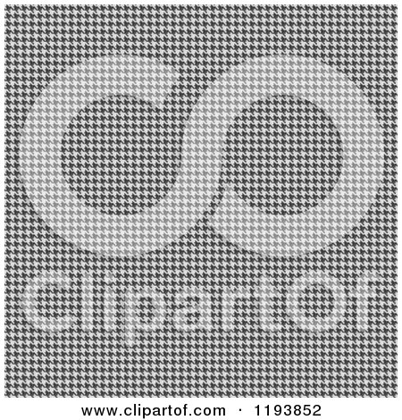 Clipart of a Tight Black and White Seamless Hounds Tooth Weave Texture - Royalty Free CGI Illustration by Arena Creative