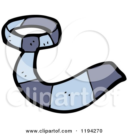 Cartoon of a Man's Tie - Royalty Free Vector Illustration by lineartestpilot
