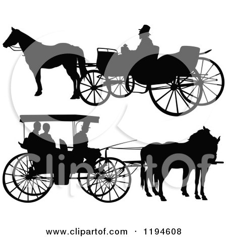 Horse Drawn Carriage Silhouette Horse Drawn Carriages 2