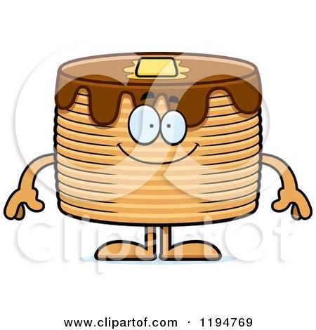 Cartoon of a Happy Pancakes Mascot - Royalty Free Vector Clipart by Cory Thoman