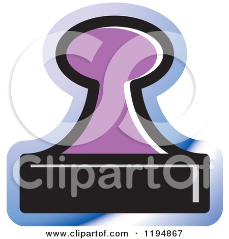 Clipart of a Rubber Stamp Office Icon - Royalty Free Vector Illustration by Lal Perera