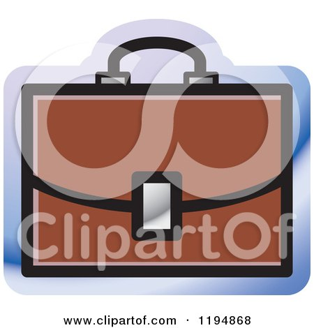 Clipart of a Briefcase Office Icon - Royalty Free Vector Illustration by Lal Perera