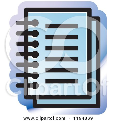 Clipart of a Paper Document Office Icon - Royalty Free Vector Illustration by Lal Perera