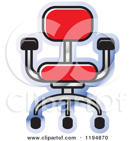 Clipart of a Chair Office Icon - Royalty Free Vector Illustration by Lal Perera