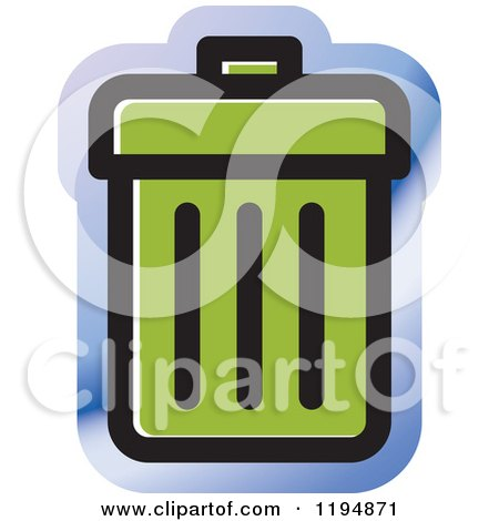 Clipart of a Trash Bin Office Icon - Royalty Free Vector Illustration by Lal Perera