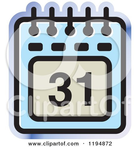 Clipart of a Calendar Office Icon - Royalty Free Vector Illustration by Lal Perera