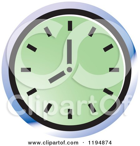 Clipart of a Wall Clock Office Icon - Royalty Free Vector Illustration by Lal Perera