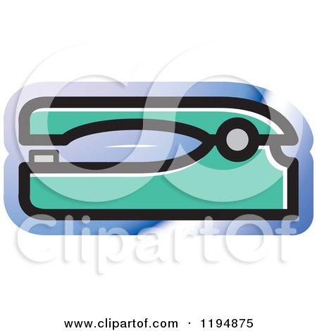 Clipart of a Stapler Office Icon - Royalty Free Vector Illustration by Lal Perera