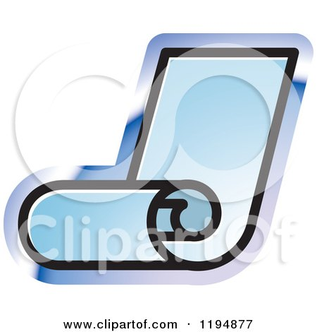 Clipart of a Fax Roll Office Icon - Royalty Free Vector Illustration by Lal Perera
