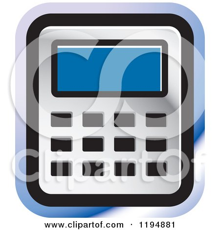 Clipart of a Calculator Office Icon - Royalty Free Vector Illustration by Lal Perera