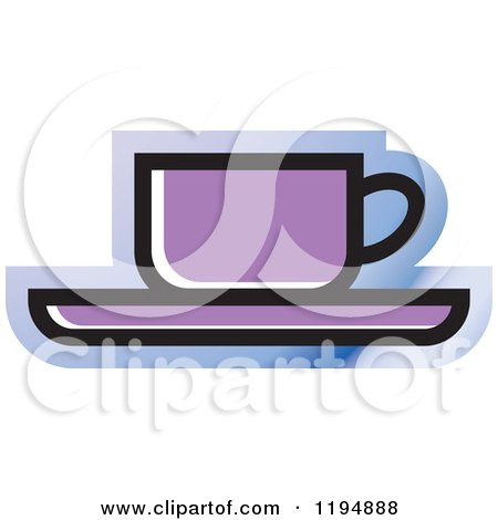 Clipart of a Tea or Coffee Office Icon - Royalty Free Vector Illustration by Lal Perera