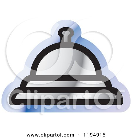 Clipart of a Bell Office Icon - Royalty Free Vector Illustration by Lal Perera