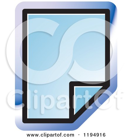 Clipart of a New Paper Document Office Icon - Royalty Free Vector Illustration by Lal Perera
