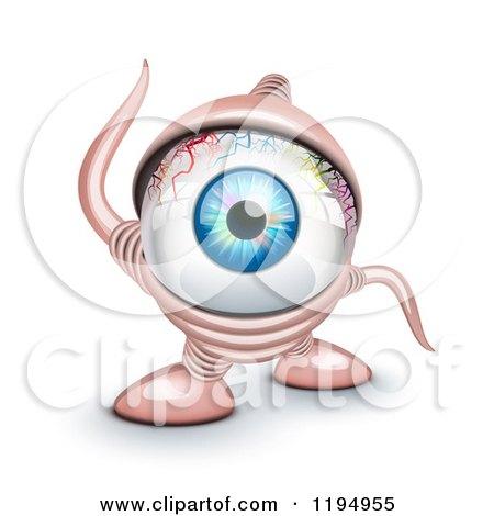 Cartoon of a Cyclope Monster - Royalty Free Vector Clipart by Oligo