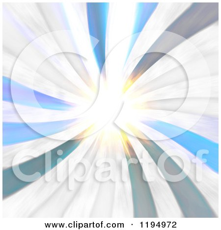 Clipart of a Radial Burst with Bright Light - Royalty Free CGI Illustration by Arena Creative