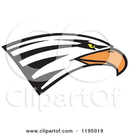 Clipart of a Bald Eagle Head - Royalty Free Vector Illustration by Johnny Sajem
