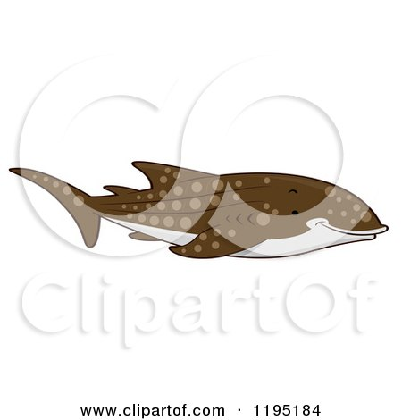 Cartoon of a Cute Whale Shark - Royalty Free Vector Clipart by BNP Design Studio