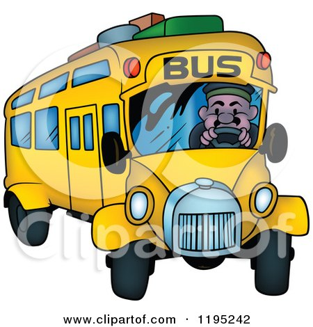 Man Driving a Bus with Luggage on Top Posters, Art Prints