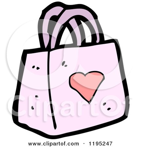Pink Purse Cartoon Cartoon of a Ladies Pink Purse