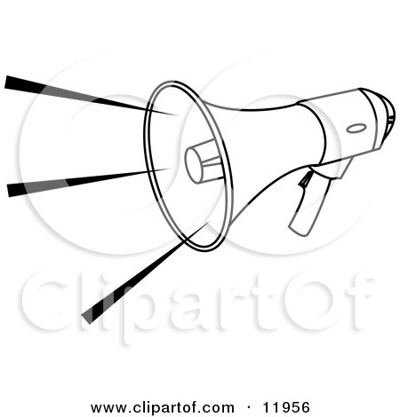 Megaphone Clipart Black And White