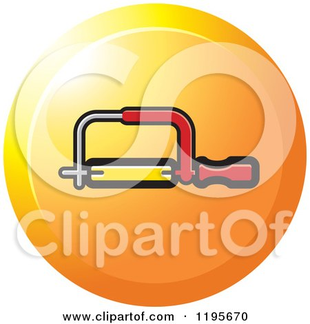 Clipart of a Round Hacksaw Tool Icon - Royalty Free Vector Illustration by Lal Perera