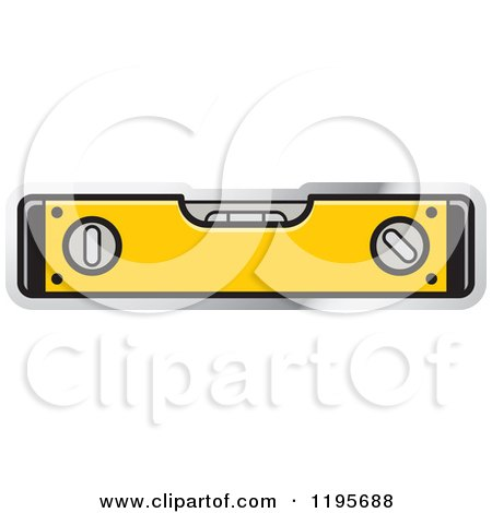 Clipart of a Level Tool Icon - Royalty Free Vector Illustration by Lal Perera