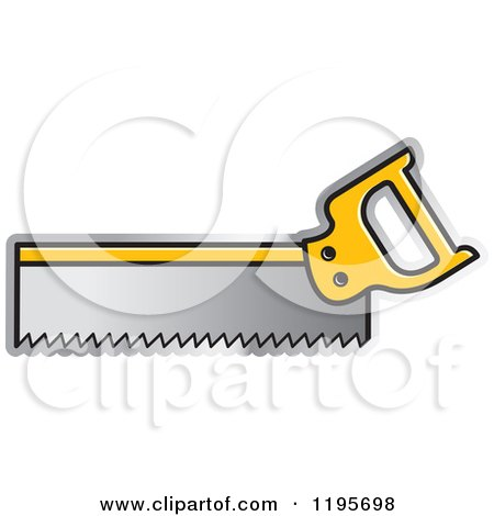 Clipart of a Back Saw Tool Icon - Royalty Free Vector Illustration by Lal Perera