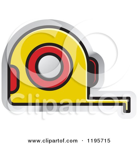 Clipart of a Tape Measure Tool Icon - Royalty Free Vector Illustration by Lal Perera