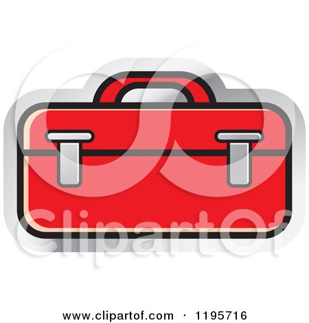 Clipart of a Tool Box Tool Icon - Royalty Free Vector Illustration by Lal Perera