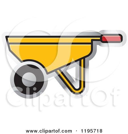 Clipart of a Wheelbarrow Tool Icon - Royalty Free Vector Illustration by Lal Perera