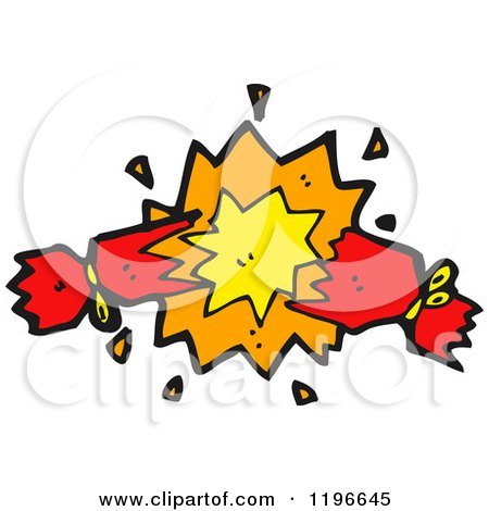 Cartoon of a Firecracker - Royalty Free Vector Illustration by lineartestpilot