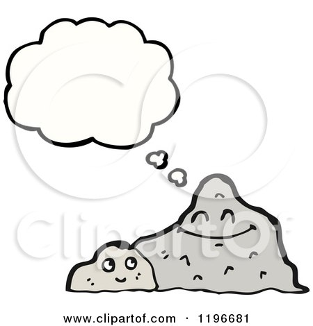 Cartoon of a Rock with a Face - Royalty Free Vector Illustration ...