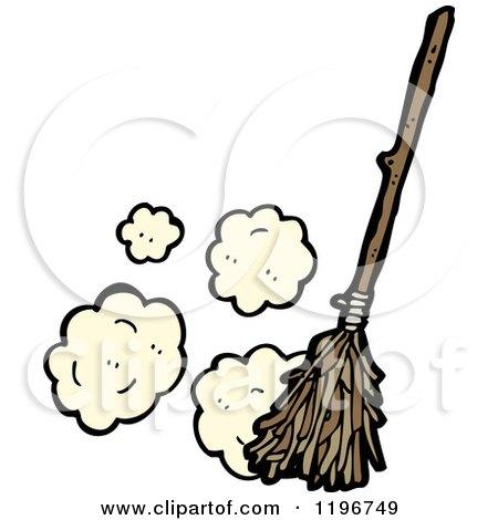 Clipart Of A Magic Broom Royalty Free Vector