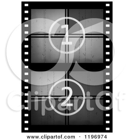 Clipart of a Grungy Movie Counter Film Strip - Royalty Free Vector Illustration by Eugene