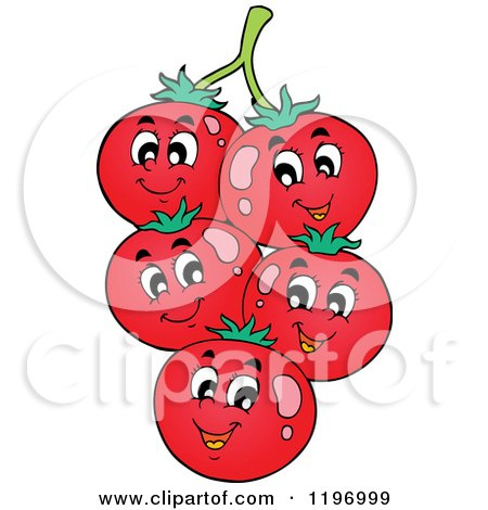 Cartoon of a Group of Happy Veggies - Royalty Free Vector ...