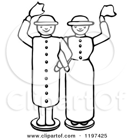 Clipart of a Retro Vintage Black and White Kids with a Toy ...