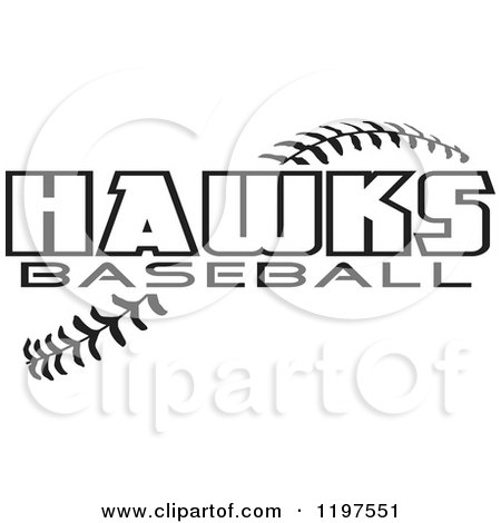 Clipart of Warrior Softball Text over Stitches - Royalty Free Vector Illustration by Johnny Sajem