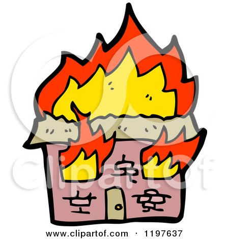 Royalty-Free (RF) House Fire Clipart, Illustrations ...
