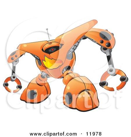 Orange Firewall Robot Posters, Art Prints