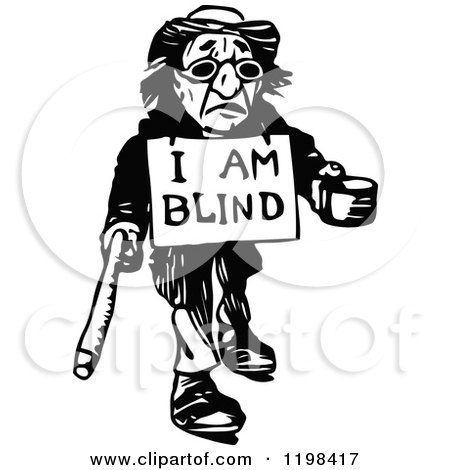 Royalty Free Rf Blind Man Clipart Illustrations Vector