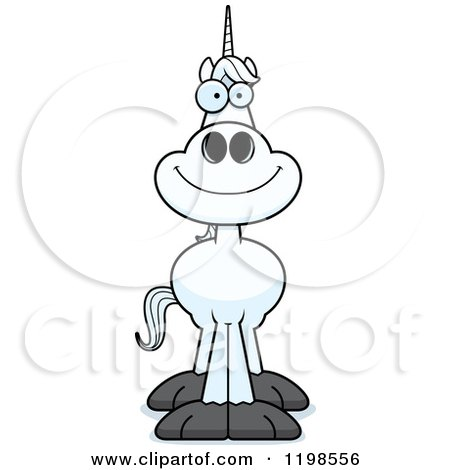 Cartoon of a Happy Smiling Unicorn - Royalty Free Vector Clipart by Cory Thoman