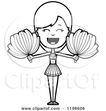 Black And White Cheerleading Graphics likewise Applaudissement Dessin Anim C3 A9 Cheerleader 23545935 together with Cheerleading Clipart Black And White additionally Thing likewise Printable Alphabet. on poms