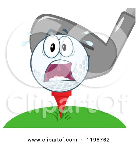 Angry Golfer - Free Retro Clipart Golf Ball And Club Clipart