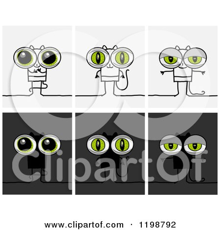 Royalty-Free (RF) Illustrations & Clipart of Cat Eyes #1