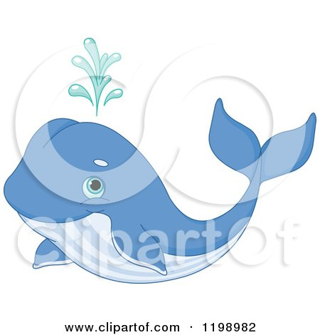 Clipart Of A Black And White Humpback Whale - Royalty Free ... Cute Baby Whale Clipart