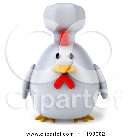 3d Chubby Chef Chicken Posters, Art Prints