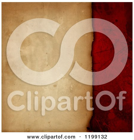 Clipart of a Vintage Paper Background with Red - Royalty Free CGI Illustration by KJ Pargeter