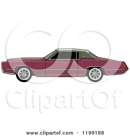 Clipart of a Vintage Brown Cadillac - Royalty Free Vector Illustration by Lal Perera