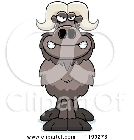 Cartoon of a Mad Ox - Royalty Free Vector Clipart by Cory Thoman