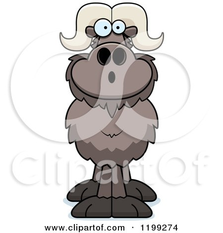 Cartoon of a Surprised Ox - Royalty Free Vector Clipart by Cory Thoman